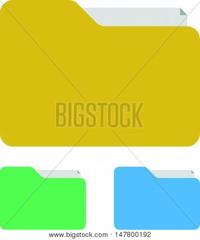 Simple Flat Folder Icons or Binder Icons