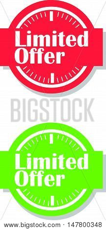 Simple Timed Limited Offer Label or Icon