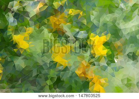 multicolored abstract green background of effect geometric triangles