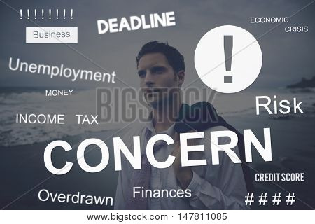 Business Problem Concern Worried Graphic Concept