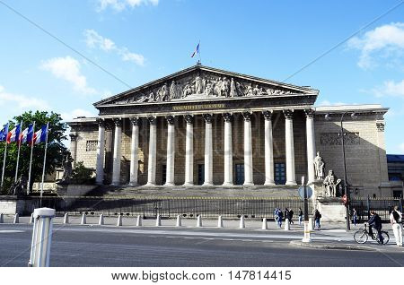 Building Of National Assembly In Paris
