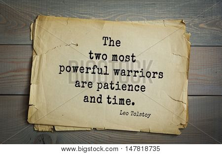 TOP-30. The great Russian writer Leo Tolstoy (1828-1910) quote.