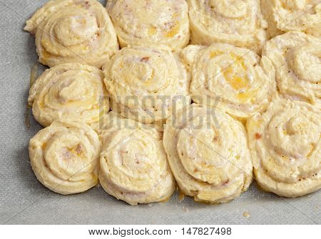 Tray Of Strawberry Quark Rolls