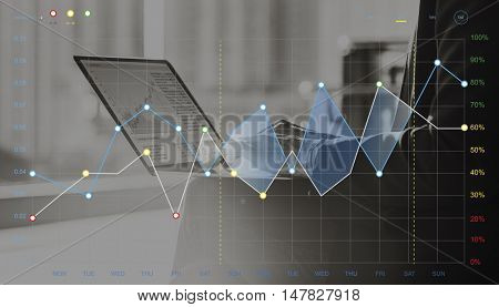Forex Stock Exchange Graph Global Business Concept