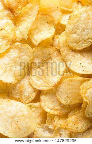 potato chips background. golden potato chips background.