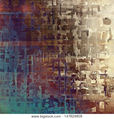 Glamour vintage frame, decorative grunge background. Aged texture with different color patterns: yellow (beige); brown; gray; blue; purple (violet); pink