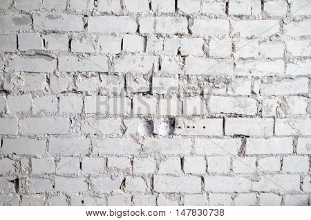 Texture of a brick wall during overhaul
