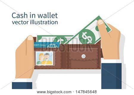 Opened Wallet In Hand
