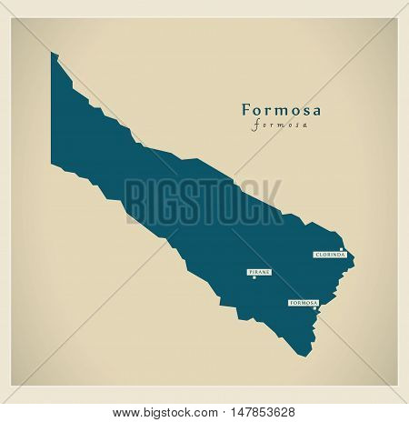 Modern Map - Formosa AR high res