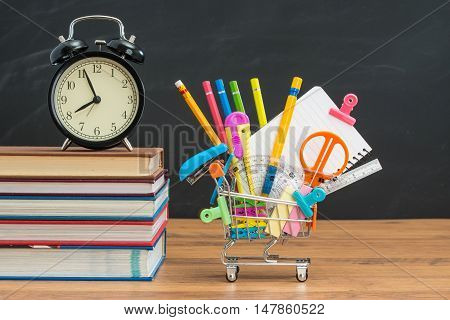 Time To Shopping Education Supplies For Back To School