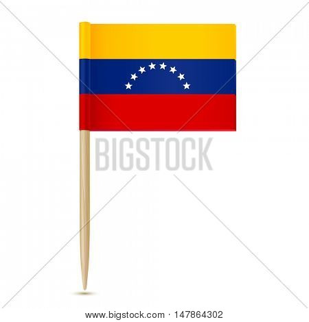 Flag of Venezuela. Flag toothpick on white background 10eps