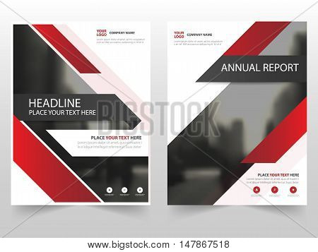Red technology business Brochure Leaflet Flyer annual report template design book cover layout design abstract business presentation template a4 size design