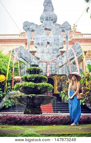 Woman On The Background Of Antonio Blanco Museum