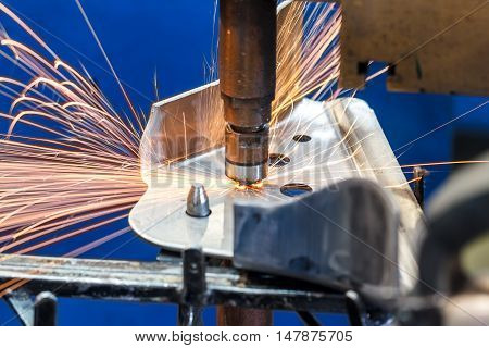 The Industrial spot nut automotive spot welding in thailand.
