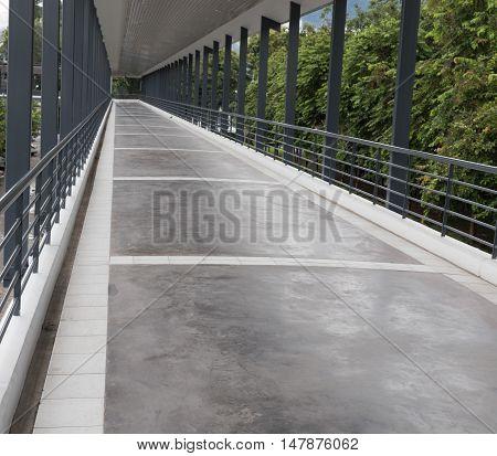 Perspective Of Elevated Pedestrian Walkway