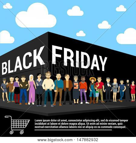 Black Friday  banner flat design vector template.