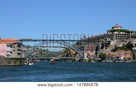 Porto Portugal - july 10 2010 : bridge on Douro river