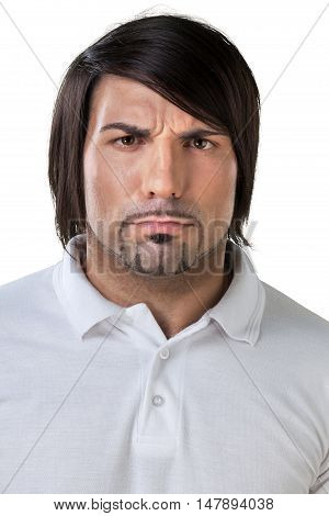 Portrait of an Uncertain / Serious Man