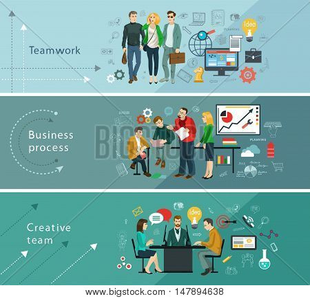 Business people group over conceptual. Mind Map Team - Illustration. Teamwork. Business. Creative team.
