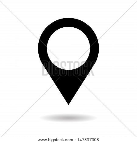 Navigation Pin Web Gps Application Icon Flat Vector Illustration