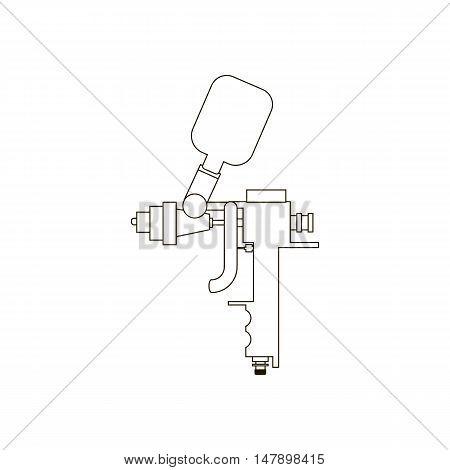 Airbrush vector illustration on the white background. Vector illustration