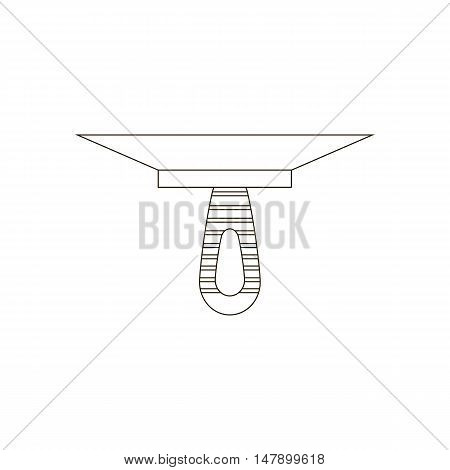 Putty knife spatula illustration on the white background. Vector illustration