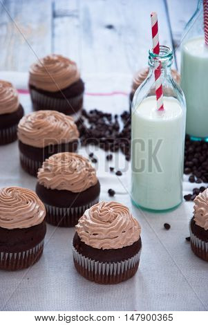 Chocolate cupcakes with Chocolate frosting, Creamy Chocolate Cupcake, Coffee Cupcake