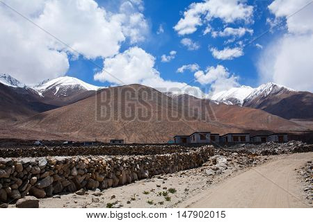 Pangong Lake In Ladakh, Jammu And Kashmir State, India