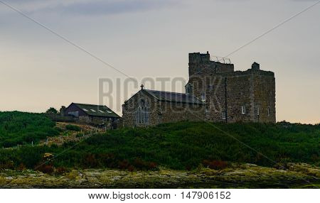 St Cuthbert's Chapel is a single-cell building and was built in about 1370. It is built on top of an earlier building on the Inner Farne island off the coast of Northumbria, England.