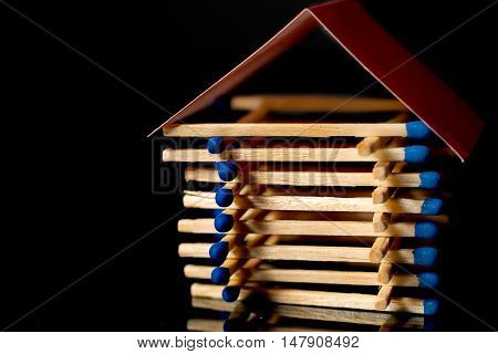 Fire insurance. Wooden house insurance. Safe house.