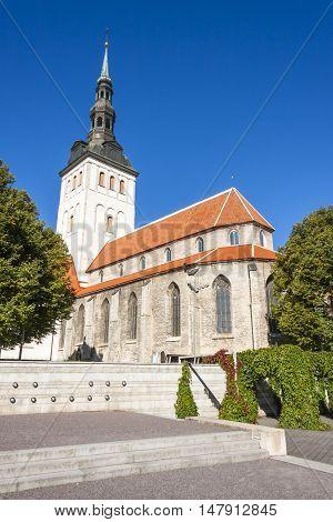 St. Nicholas church in the old town of Tallinn Estonia