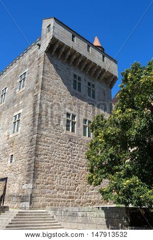 Palace of the Duques of Braganca (Unesco World Heritage Site), a medieval palace and museum in Guimaraes, Portugal.