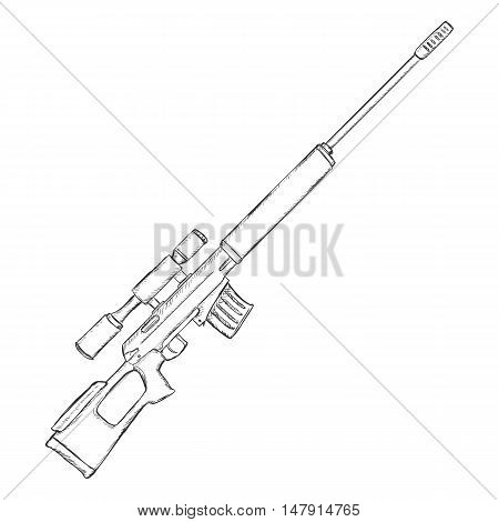 Vector Sketch Sniper Rifle