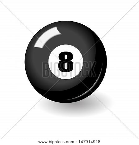 Black Billiard Ball With Number Eight
