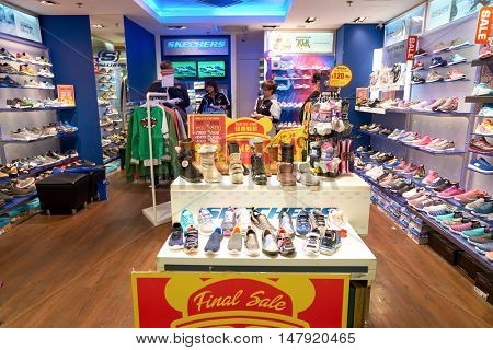 HONG KONG - CIRCA JANUARY, 2016: inside of a store in Hong Kong. Shopping is a widely popular social activity in Hong Kong.