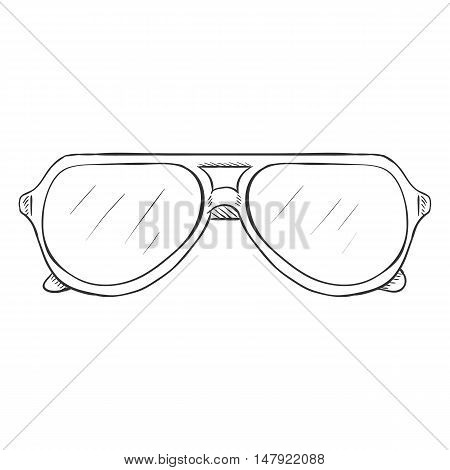 Vector Single Sketch Glasses