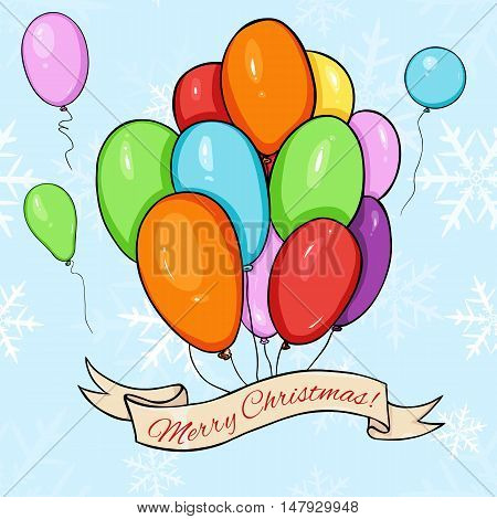 Vector Merry Christmas Greating Card.