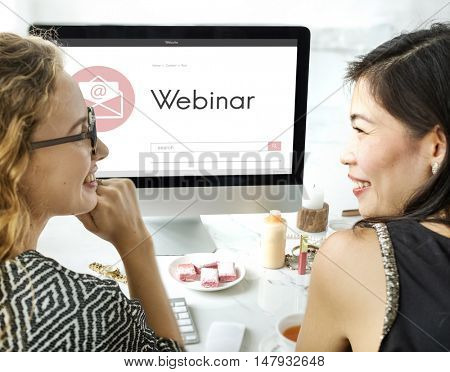 Webinar Brainstorming Web Conference Connection Technology Concept