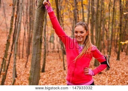 Portrait Of Active Sporty Girl.