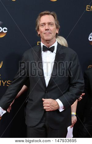 LOS ANGELES - SEP 18:  Hugh Laurie at the 2016 Primetime Emmy Awards - Arrivals at the Microsoft Theater on September 18, 2016 in Los Angeles, CA