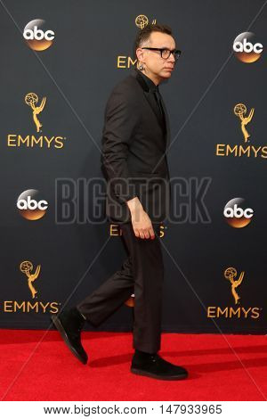 LOS ANGELES - SEP 18:  Fred Armisen at the 2016 Primetime Emmy Awards - Arrivals at the Microsoft Theater on September 18, 2016 in Los Angeles, CA