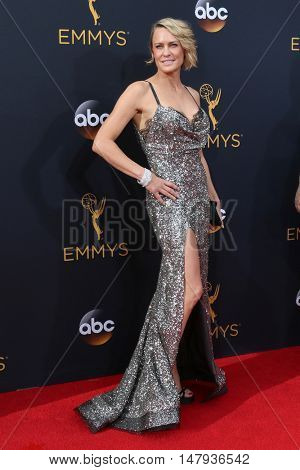 LOS ANGELES - SEP 18:  Robin Wright at the 2016 Primetime Emmy Awards - Arrivals at the Microsoft Theater on September 18, 2016 in Los Angeles, CA