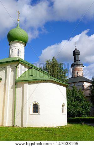 Church in Kirillo-Belozersky monastery near City Kirillov Vologda region Russia.