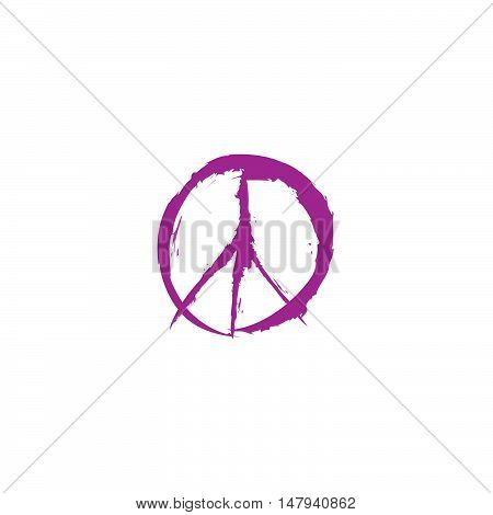 Peace sign. Peace icon. Love & peace symbol.