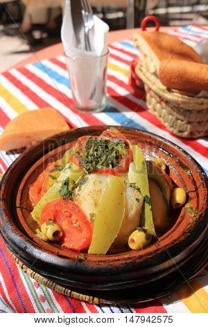 Moroccan Tajine  Chicken Dinner