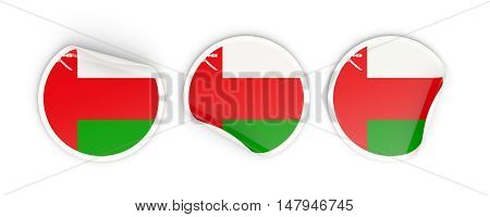 Flag Of Oman, Round Labels