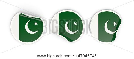Flag Of Pakistan, Round Labels
