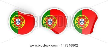 Flag Of Portugal, Round Labels