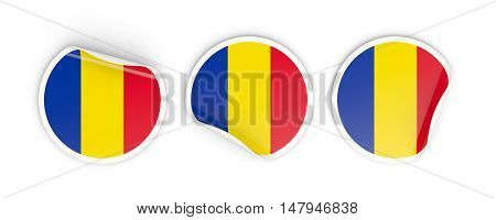 Flag Of Romania, Round Labels