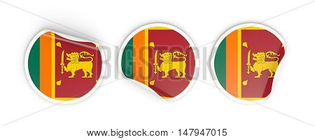 Flag Of Sri Lanka, Round Labels